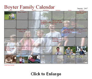 printable family calendar - fancy calendar