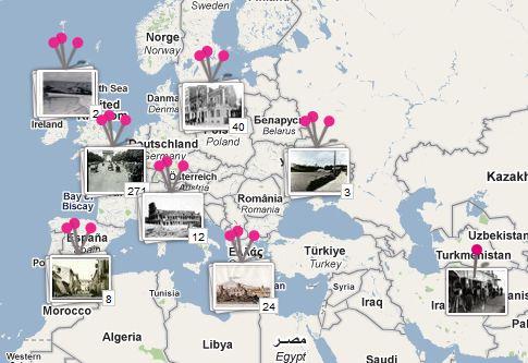 Old historical photos at Google History Pin