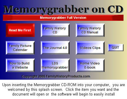 Memorygrabber Splash Screen