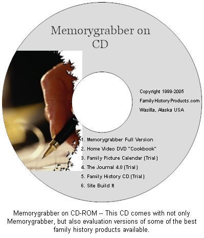 Memorygrabber CD-ROM graphic