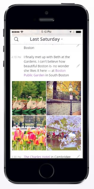 photo app for journal writing