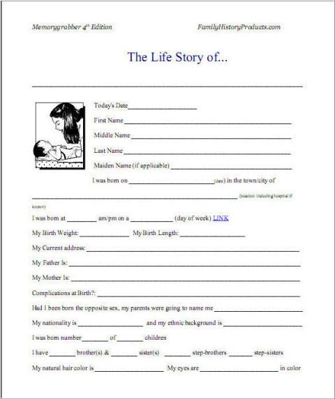 how to write an autobiography template