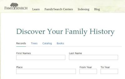 FamilySearch.org is a Great Place to Start Your Search